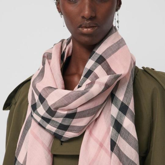 Burberry Lightweight Gauze Check Wool and Silk Scarf Image 1