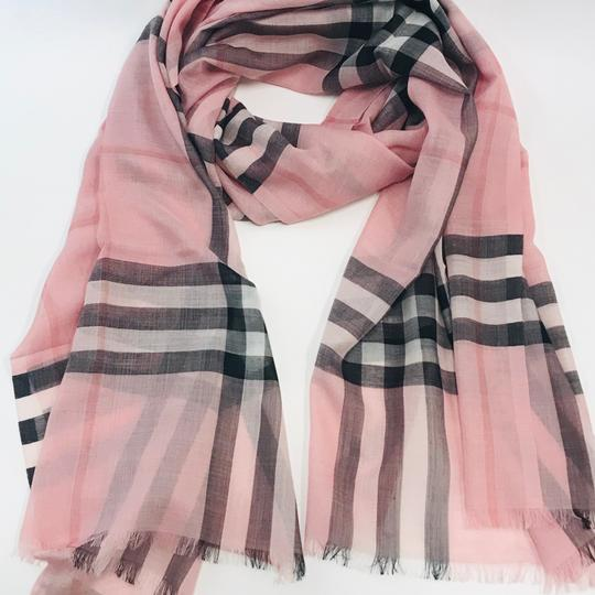 Burberry Lightweight Gauze Check Wool and Silk Scarf Image 2