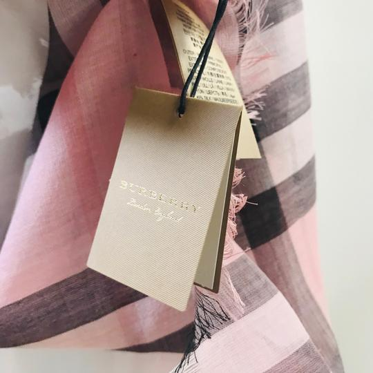 Burberry Lightweight Gauze Check Wool and Silk Scarf Image 4
