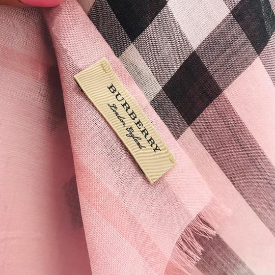 Burberry Lightweight Gauze Check Wool and Silk Scarf Image 5