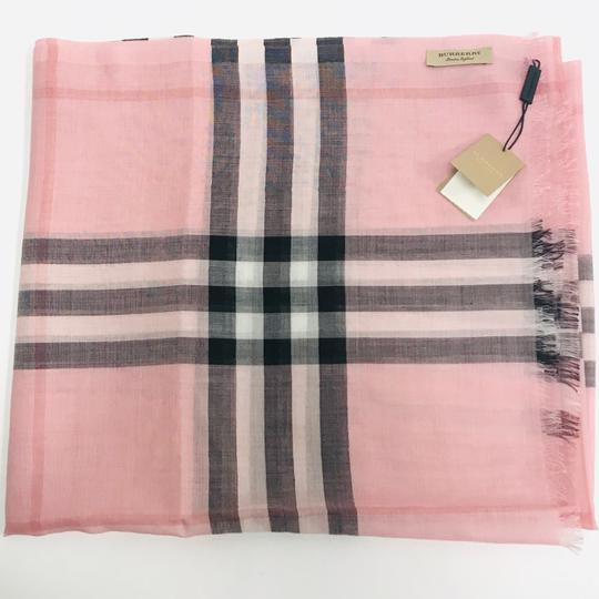 Burberry Lightweight Gauze Check Wool and Silk Scarf Image 6