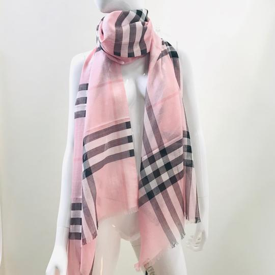 Burberry Lightweight Gauze Check Wool and Silk Scarf Image 7