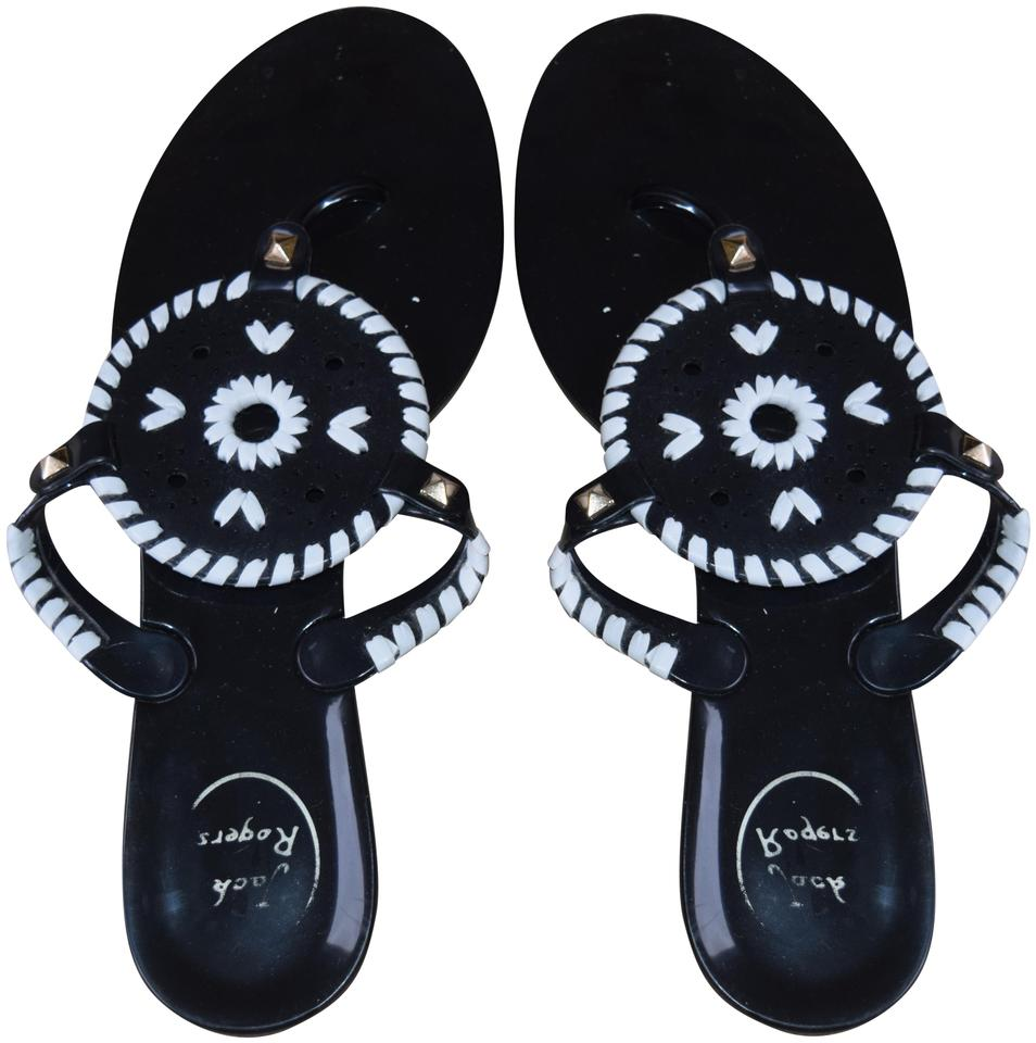 793e8d978 Jack Rogers Black Georgica Jelly Sandals Size US 9 Regular (M