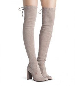 Stuart Weitzman Hiline Suede Over-the-knee Haze Boots