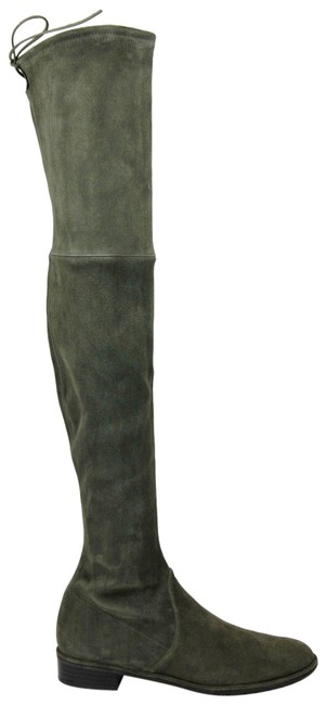 Item - Green Lowland Loden Suede Over The Knee 9.5n Boots/Booties Size US 9.5 Narrow (Aa, N)