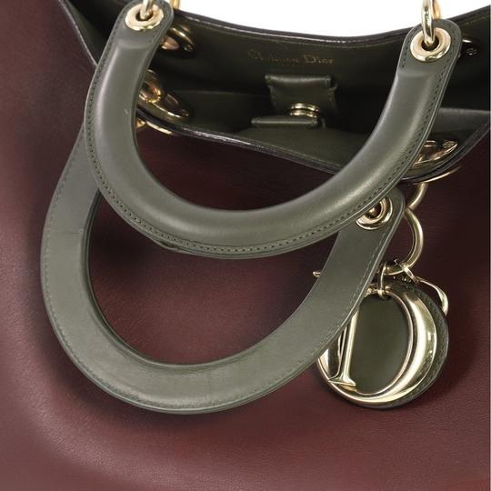 Dior Leather Tote in Burgundy Image 6