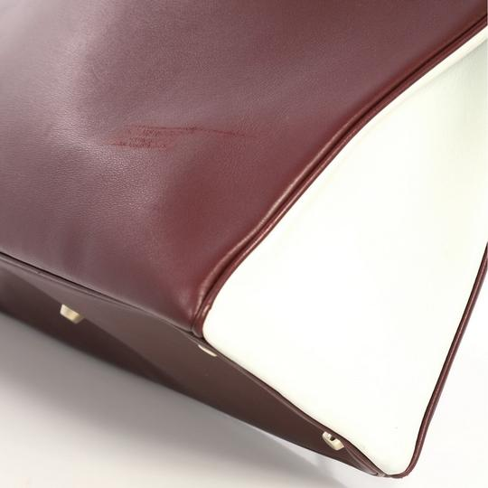 Dior Leather Tote in Burgundy Image 7