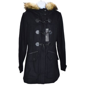 Marc New York Faux Fur Pea Coat