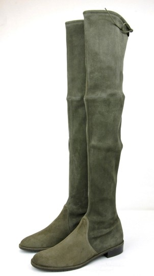 Stuart Weitzman Lowland Loden Suede Green Boots Image 1