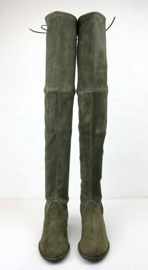 Stuart Weitzman Lowland Loden Suede Green Boots Image 2