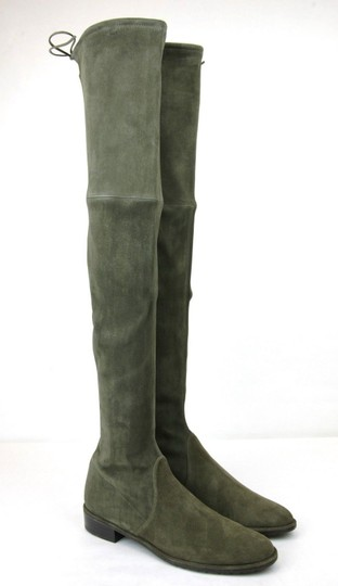 Stuart Weitzman Lowland Loden Suede Green Boots Image 3
