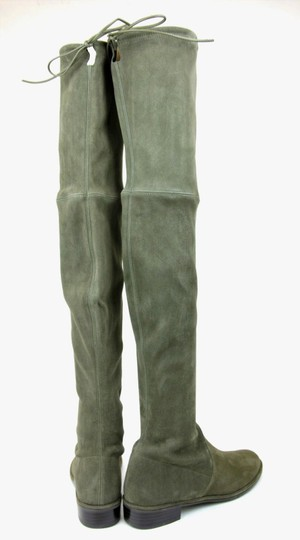 Stuart Weitzman Lowland Loden Suede Green Boots Image 4