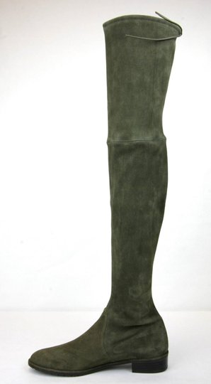 Stuart Weitzman Lowland Loden Suede Green Boots Image 6