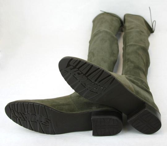 Stuart Weitzman Lowland Loden Suede Green Boots Image 7