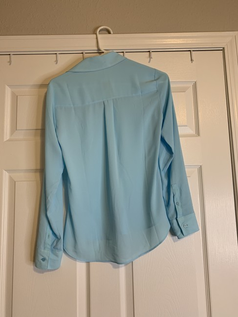 Express Button Down Portofino Top Light Blue Image 1