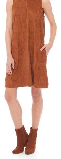 Preload https://img-static.tradesy.com/item/24687227/rd-style-brown-faux-suede-sleeveless-small-short-casual-dress-size-6-s-0-1-650-650.jpg