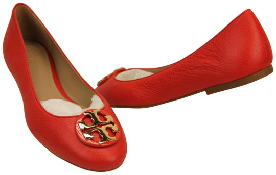 Preload https://img-static.tradesy.com/item/24687247/tory-burch-redsamba-redsambagold-claire-tumbled-leather-gold-tone-reva-ballet-flats-size-us-8-regula-0-1-540-540.jpg