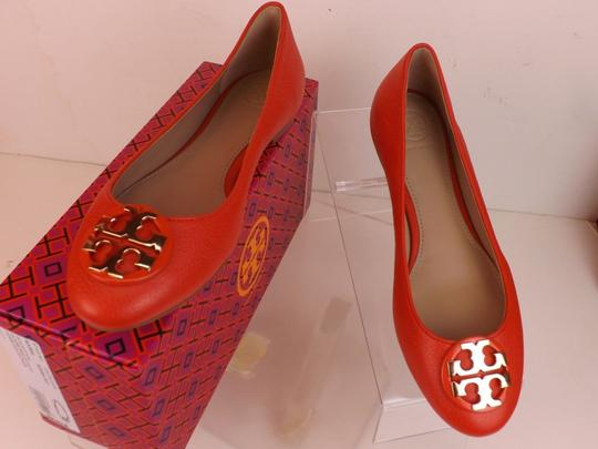 Tory Burch Red/Samba Flats Image 9