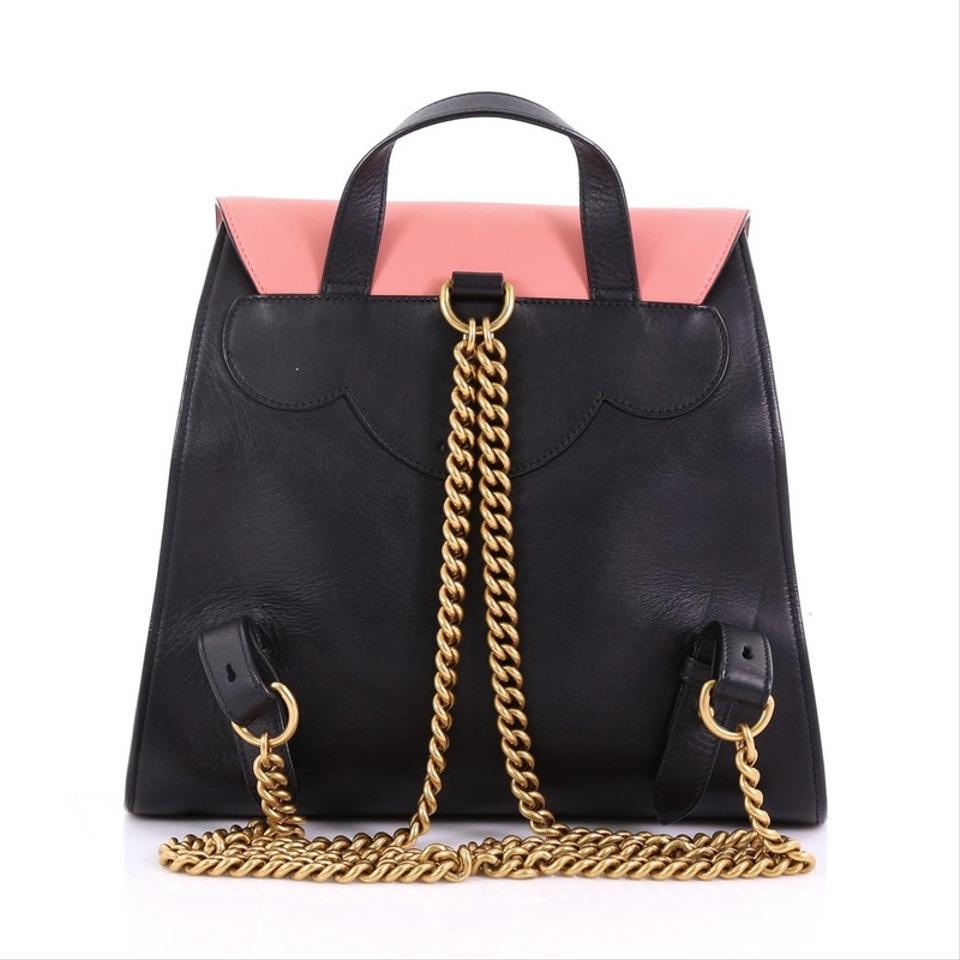 98a95a75e43 Gucci Pearly Peony Medium Pink and Black Leather Backpack - Tradesy