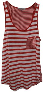 Gap Stripe Breast Pocket Top Red and white