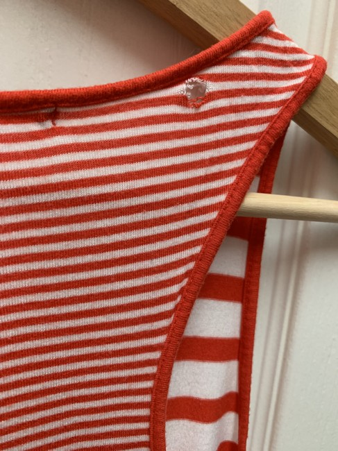 Gap Stripe Breast Pocket Top Red and white Image 1