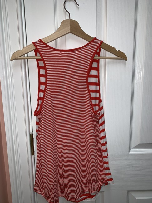 Gap Stripe Breast Pocket Top Red and white Image 2