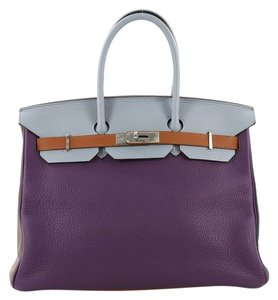 Hermès Birkin Leather Tote in Ultra Violet, Etain, Bleu Lin, Blue Obscur, Etoupe and Gold