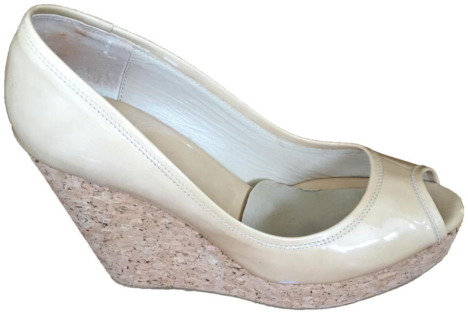 304533b2bfe3b Jimmy Choo Nude-beige Papina Pump Wedges Size EU 38.5 (Approx. US ...