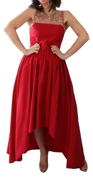 Preload https://img-static.tradesy.com/item/24687576/marchesa-notte-pink-red-pleated-beaded-sleeveless-gown-long-cocktail-dress-size-8-m-0-1-650-650.jpg