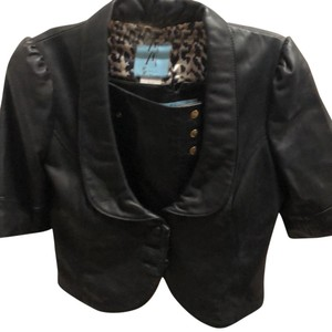 Guess By Marciano black Leather Jacket