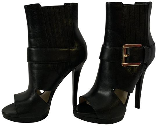 MICHAEL Michael Kors Cutouts Leather Buckle Black Boots Image 0