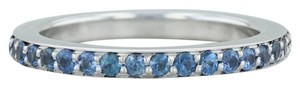 Movado Movado 1ctw Sapphire Eternity Ring - 18k Sz 7 Stackable Band Wedding