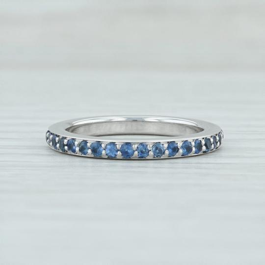 Movado Movado 1ctw Sapphire Eternity Ring - 18k Sz 7 Stackable Band Wedding Image 1