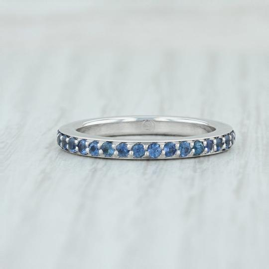 Movado Movado 1ctw Sapphire Eternity Ring - 18k Sz 7 Stackable Band Wedding Image 2