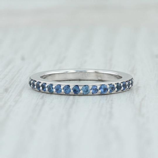 Movado Movado 1ctw Sapphire Eternity Ring - 18k Sz 7 Stackable Band Wedding Image 3