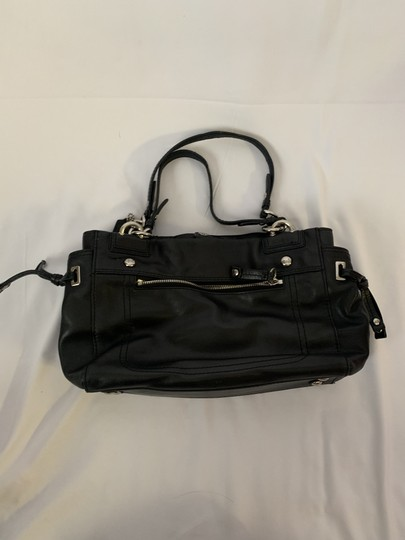 Coach Leather Handbag Classic Basic Simple Shoulder Bag Image 1