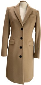 Burberry Cashmere Military Single Breasted Wool Coat