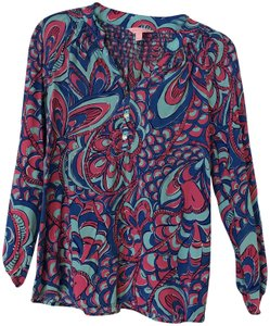 Lilly Pulitzer Top Royal blue and hot pink