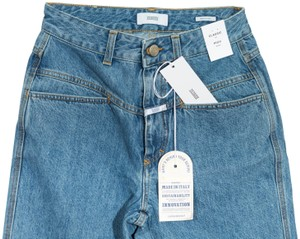 CLOSED Denim Highwaist Straight Leg Jeans-Light Wash