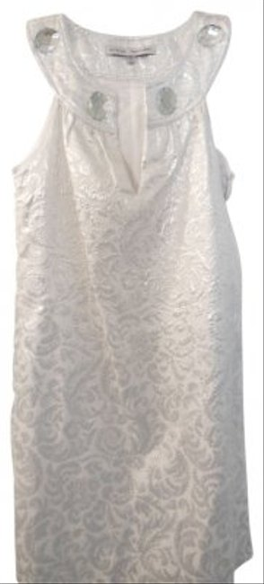 Preload https://item4.tradesy.com/images/steve-madden-white-with-silver-brocade-elegant-sheath-knee-length-cocktail-dress-size-2-xs-24688-0-0.jpg?width=400&height=650