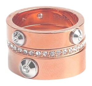 Henri Bendel New Henri Bendel Miss Bendel Stack Rings Size 6 - 3 Bands Rose Gold