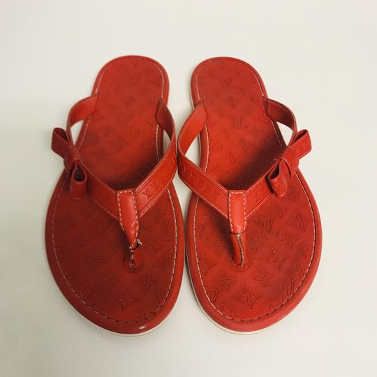 Louis Vuitton Lv Rubber Lasercuts Musthave Sumerwear red Flats Image 1