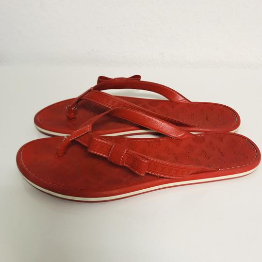 Louis Vuitton Lv Rubber Lasercuts Musthave Sumerwear red Flats Image 3