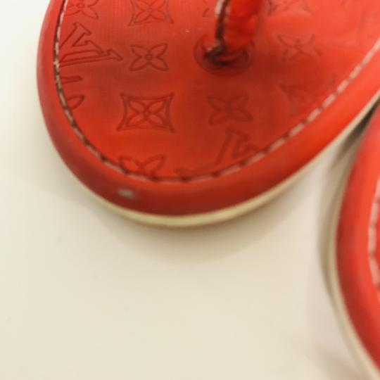 Louis Vuitton Lv Rubber Lasercuts Musthave Sumerwear red Flats Image 6