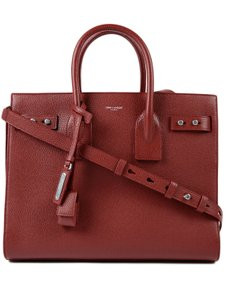 Saint Laurent Sdj Small Sdj Sac De Jour Sdj Tote in Red Burgundy Palissandre