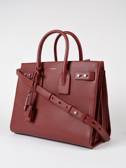 Saint Laurent Sdj Small Sdj Sac De Jour Sdj Tote in Red Burgundy Palissandre Image 1