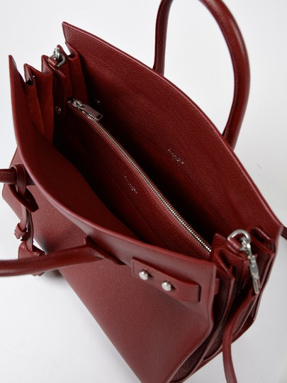 Saint Laurent Sdj Small Sdj Sac De Jour Sdj Tote in Red Burgundy Palissandre Image 10