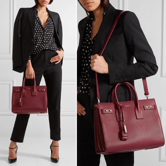 Saint Laurent Sdj Small Sdj Sac De Jour Sdj Tote in Red Burgundy Palissandre Image 11