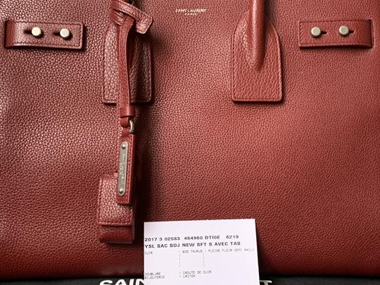 Saint Laurent Sdj Small Sdj Sac De Jour Sdj Tote in Red Burgundy Palissandre Image 3
