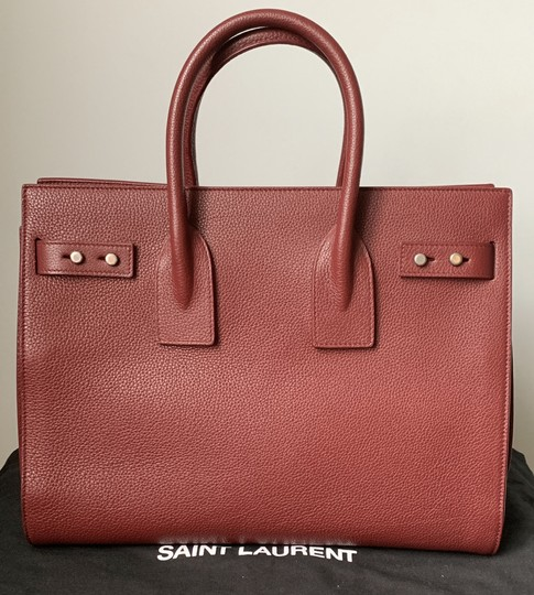 Saint Laurent Sdj Small Sdj Sac De Jour Sdj Tote in Red Burgundy Palissandre Image 4